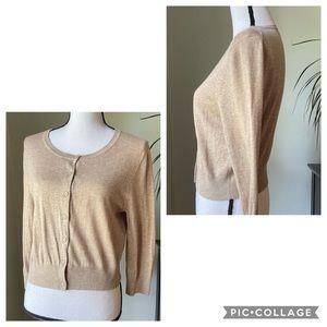 Old Navy cropped beige/tan cardigan size L